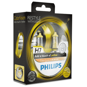 H7 | Philips ColorVision Gul